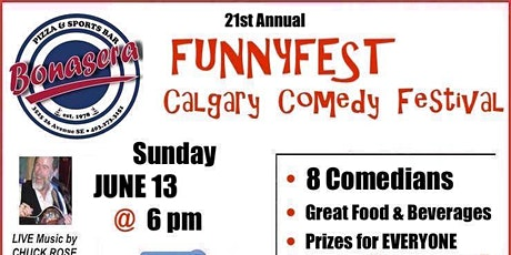Sunday, June 13, 2021 @ 6 pm - Festival Wrap Party - 21st Annual FunnyFest tickets