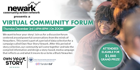 Virtual Community Forum Hosted By Newark Community Action Network tickets
