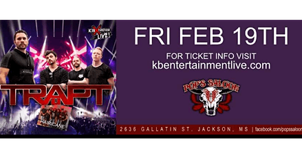 Trapt  and Hairicane  Rescheduled for later date at Pops Saloon!!! tickets