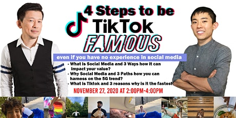 4 Steps to be TIKTOK FAMOUS! tickets
