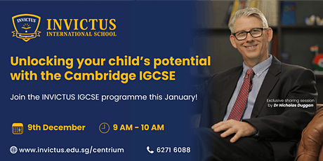 Unlocking your child's potential with the Cambridge IGCSE tickets
