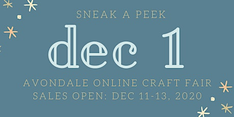 Avondale Online Craft Fair tickets