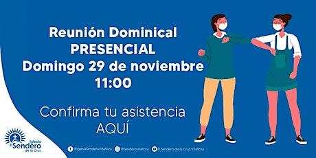 REUNIÓN DOMINICAL PRESENCIAL entradas