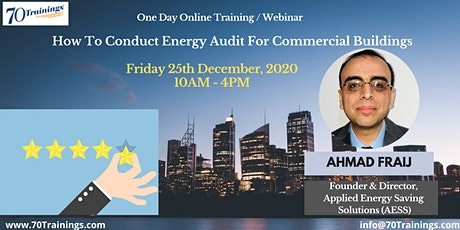 How To Conduct Energy Audit For Commercial Buildings -Madinat Zayd(Webinar) tickets