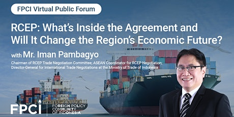 RCEP: What's Inside the Agreement and Will it Change the Region's Economy? tickets