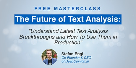 The Future of Text Analysis tickets