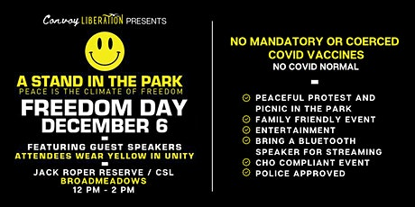 FREEDOM DAY - A Stand in the Park, MELBOURNE tickets