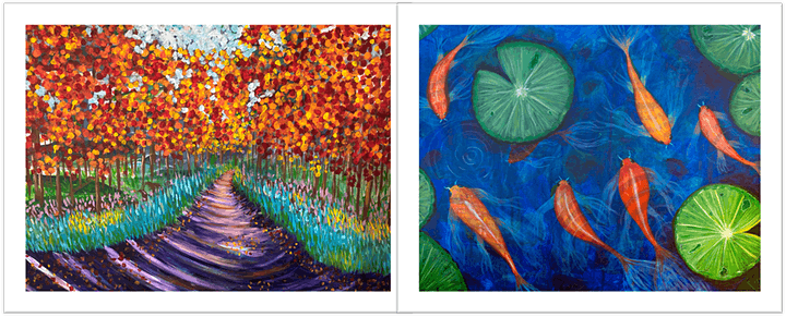Acrylic Painting Beginners  Class - Learn to paint expressively & have fun image