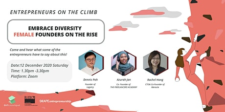 Entrepreneur on the Climb- Embrace Diversity: Female Founders on the Rise tickets