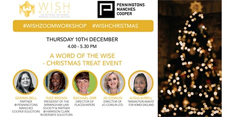 WISH Midlands Webinar: A Word with the Wise - Christmas Treat Event tickets