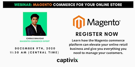 Webinar: Magento Commerce for your online store Tickets