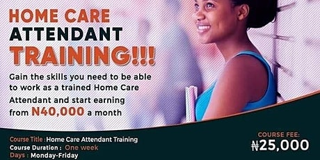 MMB HOME CARE ATTENDANT TRAINING (DECEMBER EDITION 2020) tickets