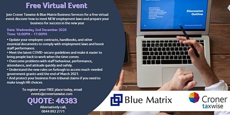 Partner Event: Blue Matrix Business Services hosts with Croner Taxwise tickets