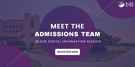ISB PGP Digital Info-session (Round 2)- 4 PM tickets