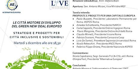 """""""Le città motore di sviluppo del Green New Deal europeo"""" biglietti"""