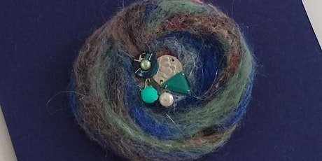 Make a Dry Needle Felted and Beaded Brooch tickets