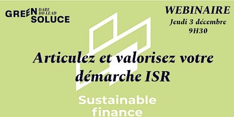 Webinaire Finance Durable : articulez et valorisez votre démarche ISR billets