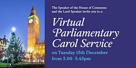 Virtual Parliamentary Carol Service tickets