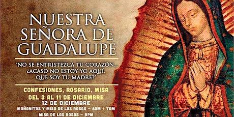 Novena a la Virgen de Guadalupe (Confesiones, Rosario y Misa) boletos