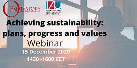 Achieving sustainability: plans, progress and values tickets