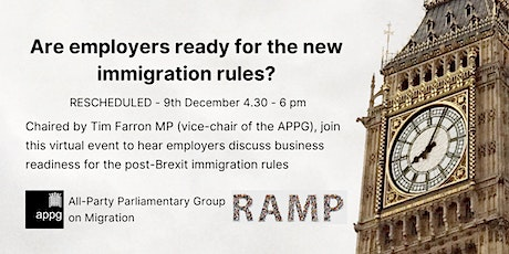 APPG on Migration: Are employers ready for the new immigration rules? tickets