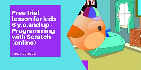 Scratch programming class for kids 6y.o.&up - free trial (online) tickets