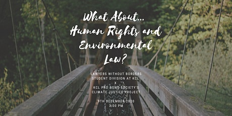 What About... Human Rights and Environmental Law? tickets