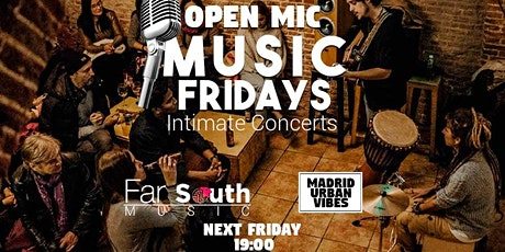 Intimate Acoustic Concerts! Music Fridays – OPEN MIC entradas
