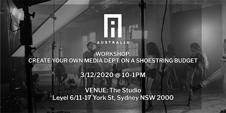 Copy of Workshop: How to create a media department on a shoestring budget. tickets