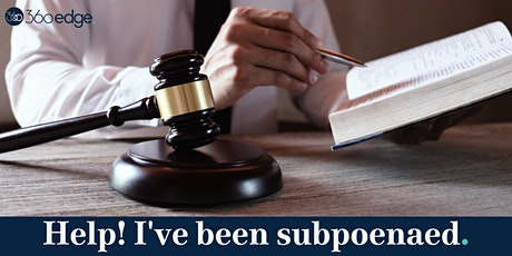 Help! I've been subpoenaed (online) tickets