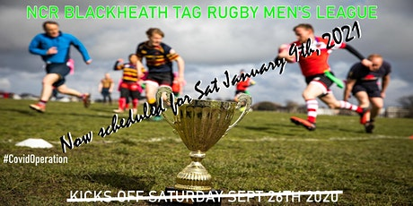 Saturdays NCR Blackheath Tag Rugby Men's League SE London Winter 20/21 tickets