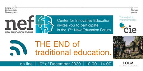 XVII New Education Forum online. The end of traditional education . tickets