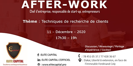 After work: chef d'entreprise (PME), responsable de start-up, entrepreneurs billets