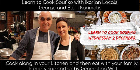 Learn to Cook Soufiko with Ikarian Locals George and Eleni Karimalis tickets