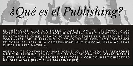 Workshop Altafonte: ¿Qué es el Publishing? entradas