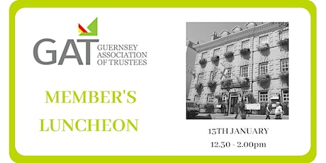 GAT Members Luncheon Wednesday 13th January 2021 tickets