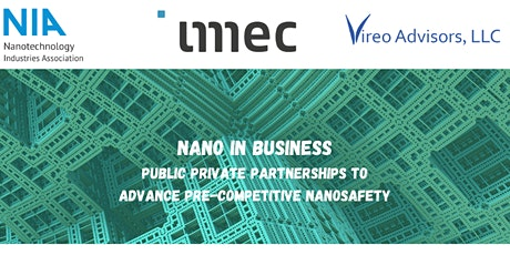 Public private partnerships to advance pre-competitive nanosafety tickets