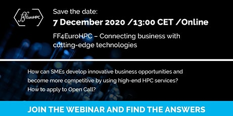 FF4EuroHPC - connecting business with cutting-edge technologies tickets