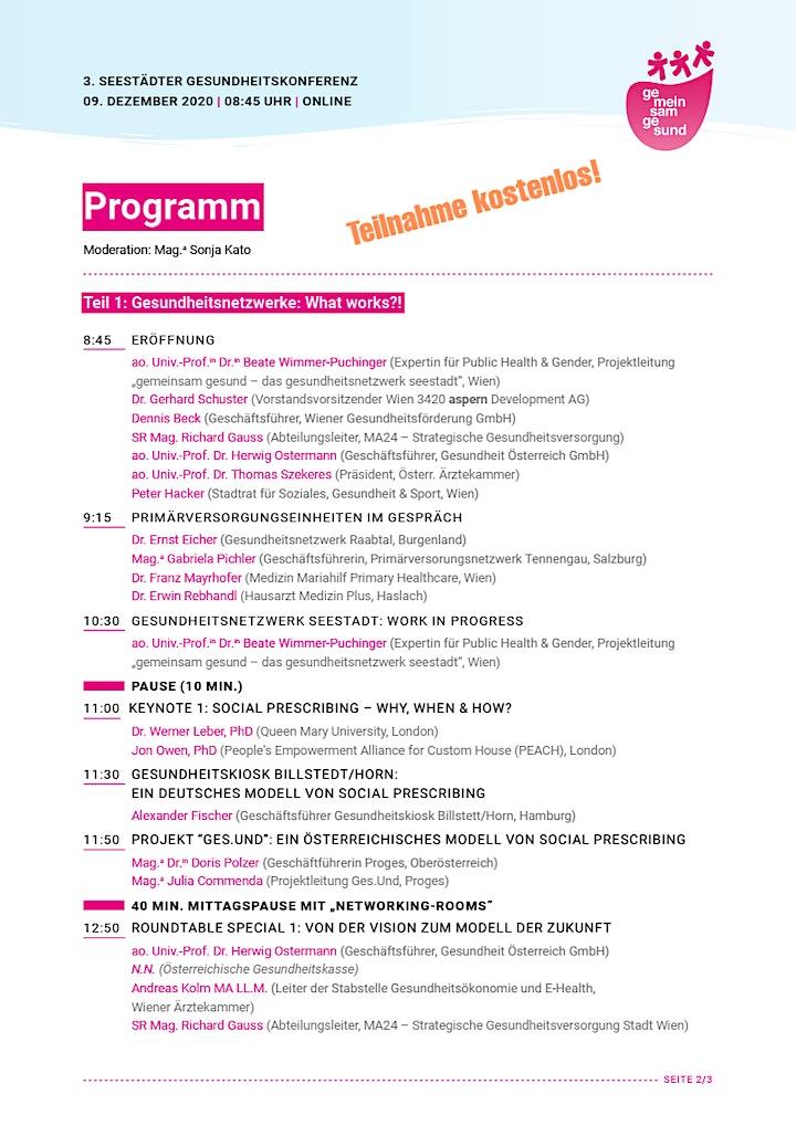 """3. Seestädter Gesundheitskonferenz """" GESUNDHEIT. VERNETZT. - What Works?!"""": Bild"""