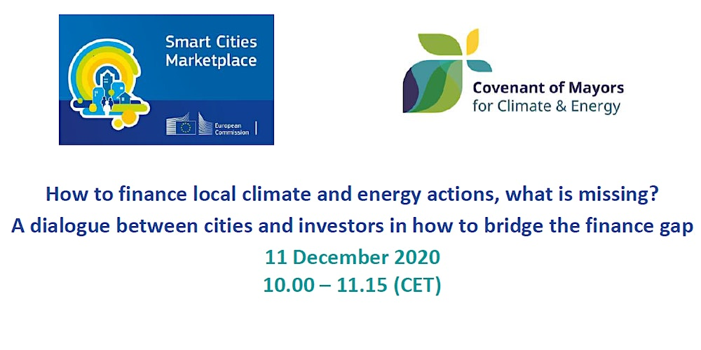 This webinar organised by the Covenant of Mayors and the Smart Cities Marketplace aim at creating a dialogue between cities and investors