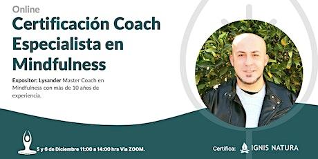 Curso Online Certificado Coach Especialista en Mindfulness - Diciembre 2020 entradas