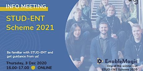 STUD-ENT Scheme: How to get 1M NOK in funding? tickets