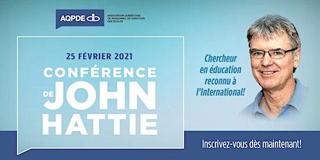 Conférence de John Hattie billets