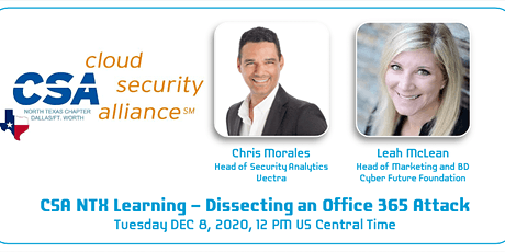 CSA NTX  & Austin Chapters- Lunch & Learn: Dissecting an Office 365 Attack tickets