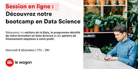 Soirée Portes Ouvertes en ligne : Découvrez notre formation en Data Science tickets