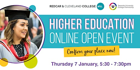 Redcar & Cleveland College Higher Education Online Open  Event tickets
