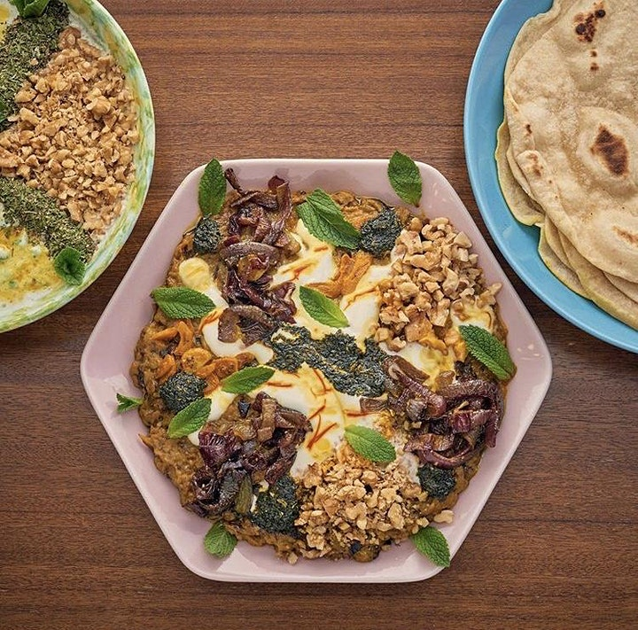 Vegetarian Iranian cookery class with Elahe image