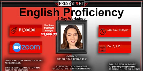 English Proficiency 3-day Program tickets