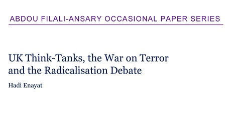 UK Think-Tanks, the War on Terror and the Radicalisation Debate tickets