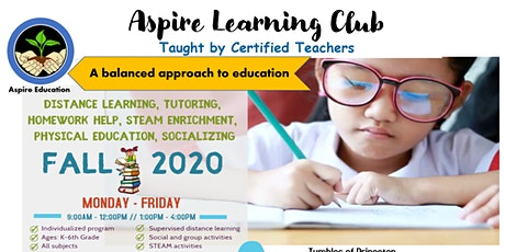 Aspire Learning Club - Supervised distance learning & homework help. tickets